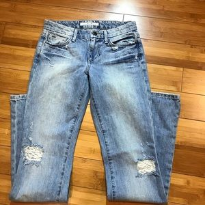 Joe's factory distressed Sz 26 bootcut